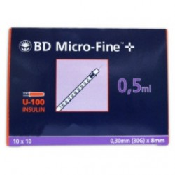 ΣΥΡΙΓΓΑ BD insuline 0.5ml 30G DEMI